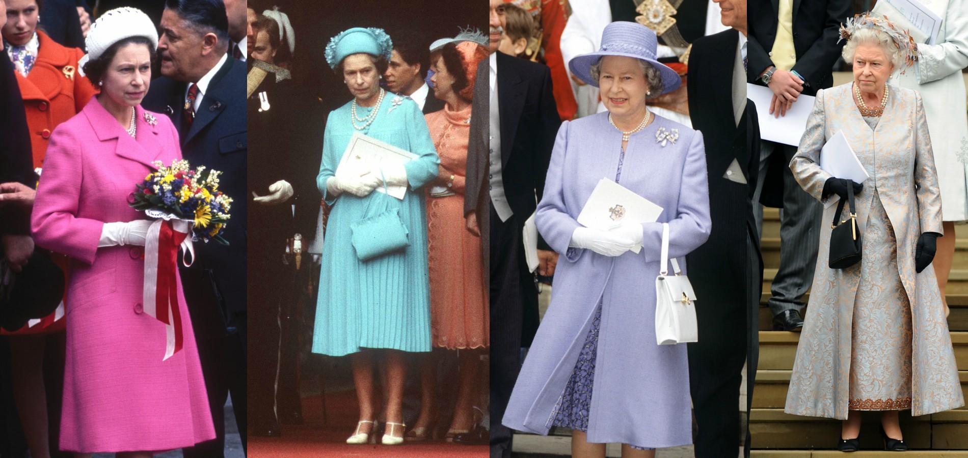 Les 1001 tenues (et couleurs) d\u0027Elizabeth II invitée à un mariage