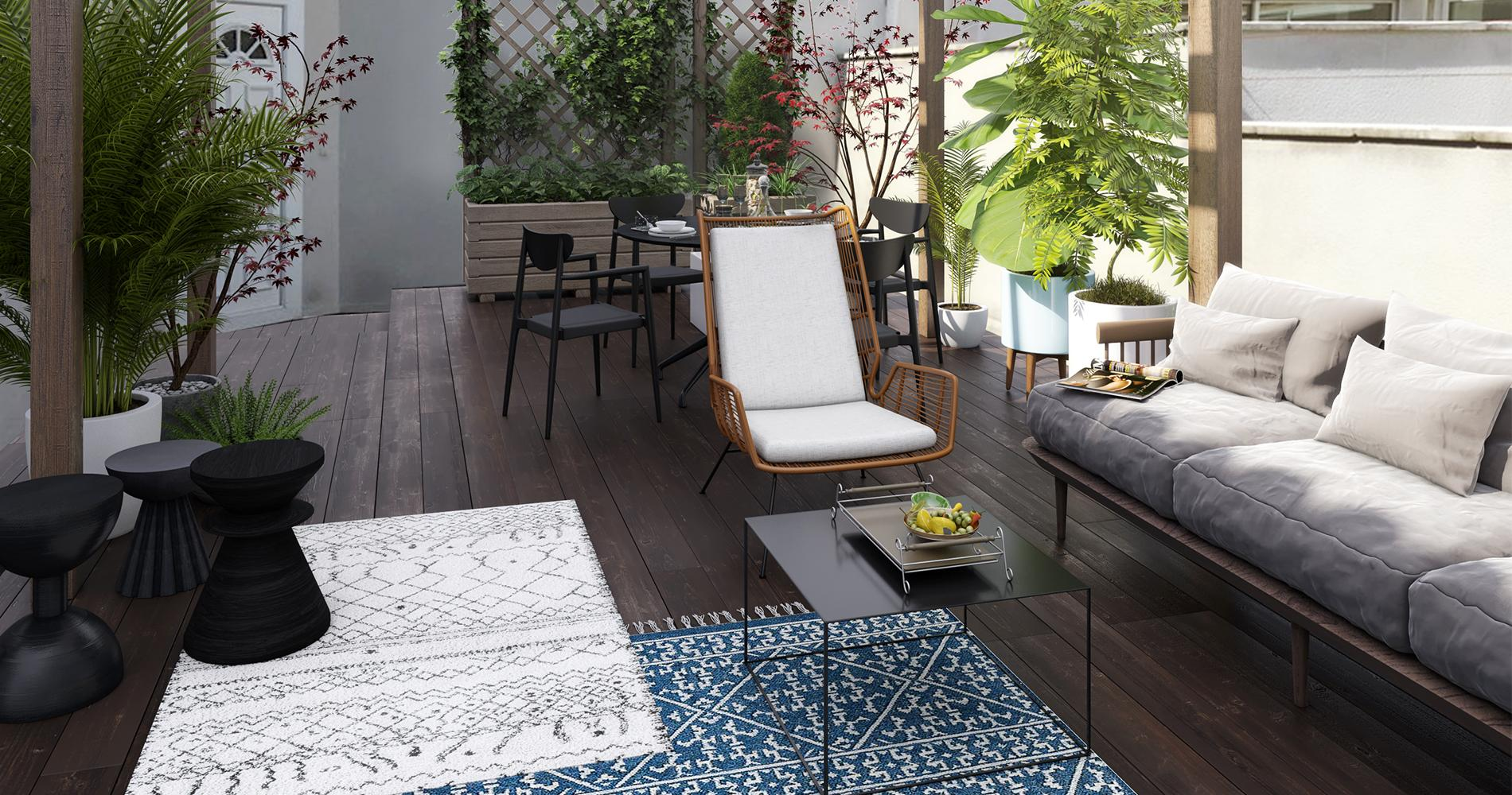 comment d corer sa terrasse madame figaro. Black Bedroom Furniture Sets. Home Design Ideas