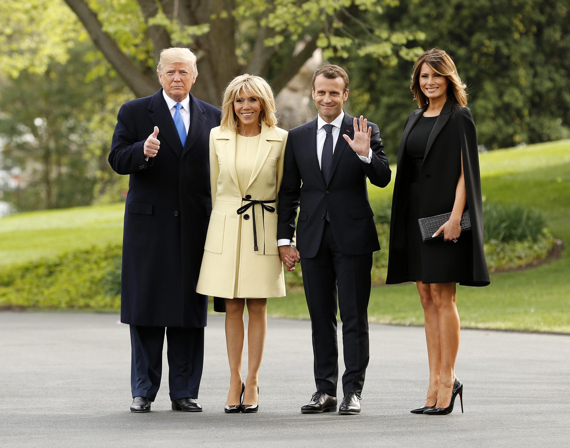 De brigitte macron et melania trump les deux femmes à la maison blanche le match mode de brigitte macron et melania trump les couples présidentiels