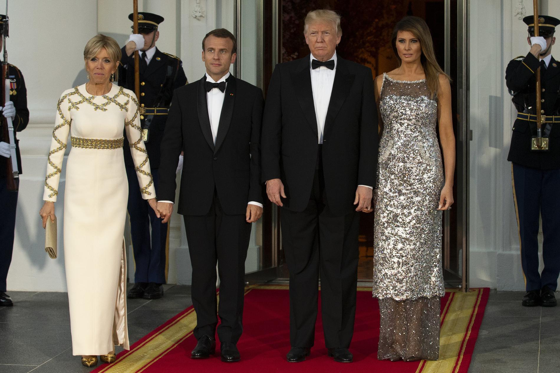 Maison blanche le match mode de brigitte macron et melania trump les couples présidentiels au dîner détat