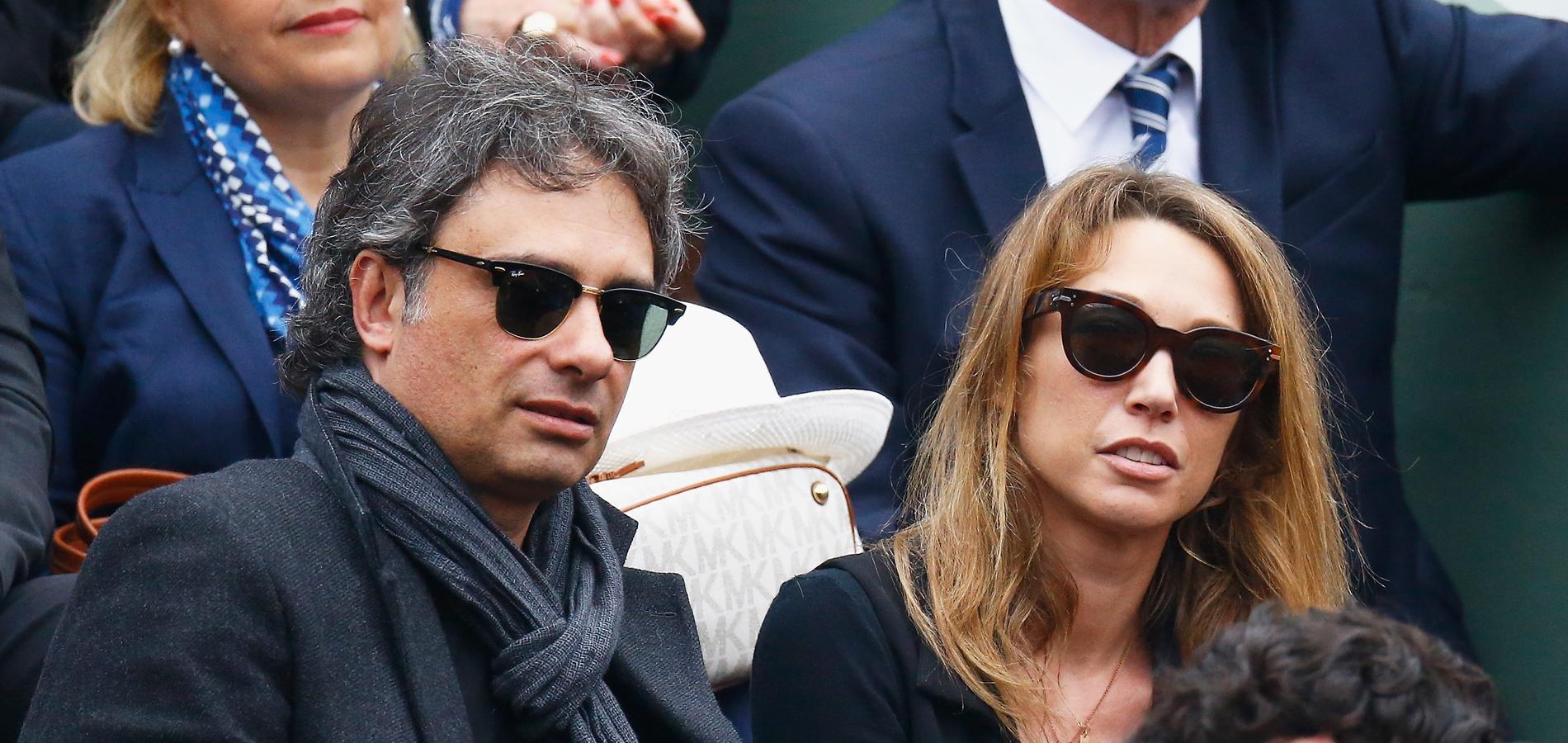 Raphaël Lancrey,Javal et Laura Smet dans les tribunes de Roland,Garros.  (Paris, le 5 juin 2016.)