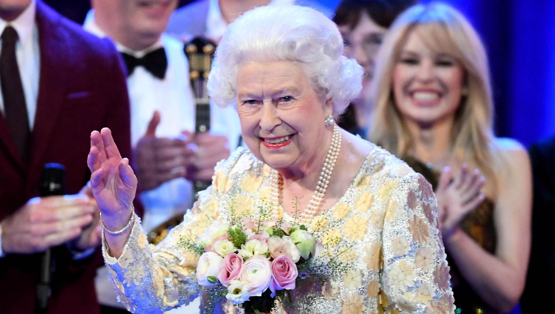 La reine Elisabeth aurait une curieuse manie lors des diners d\u0027État.  (Londres, avril 2018.)