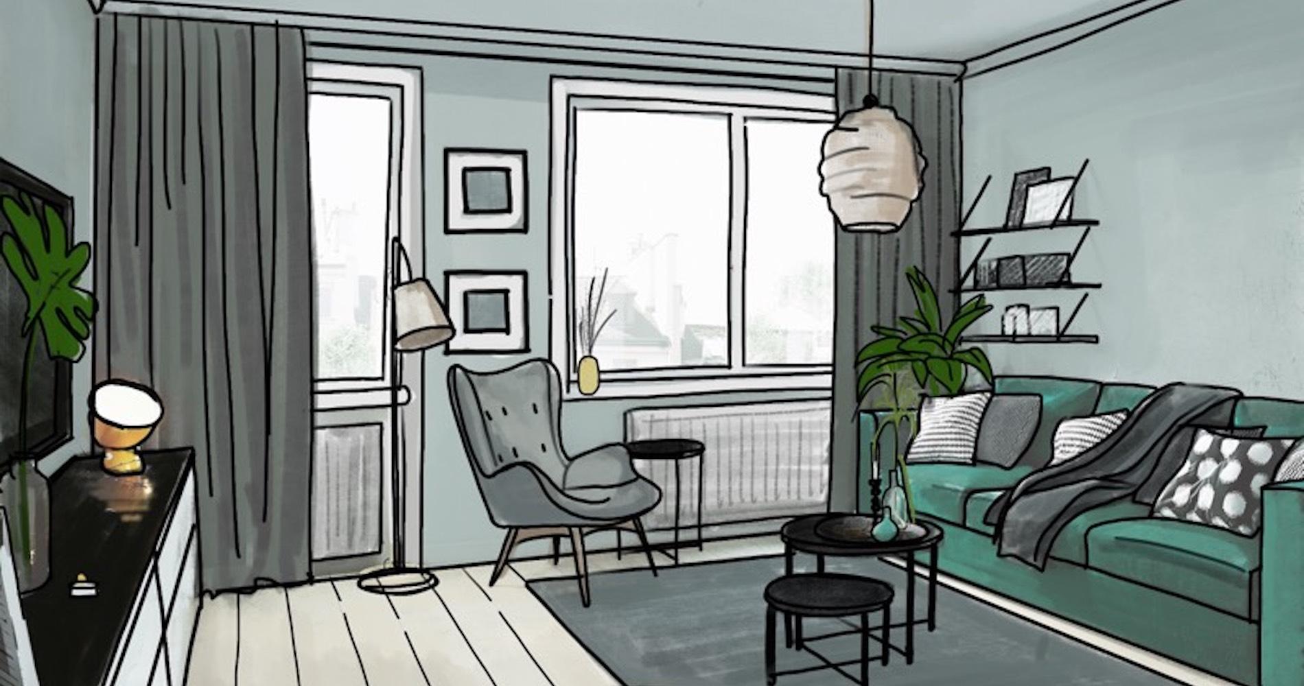 comment cr er un coin nuit dans un grand studio madame figaro. Black Bedroom Furniture Sets. Home Design Ideas