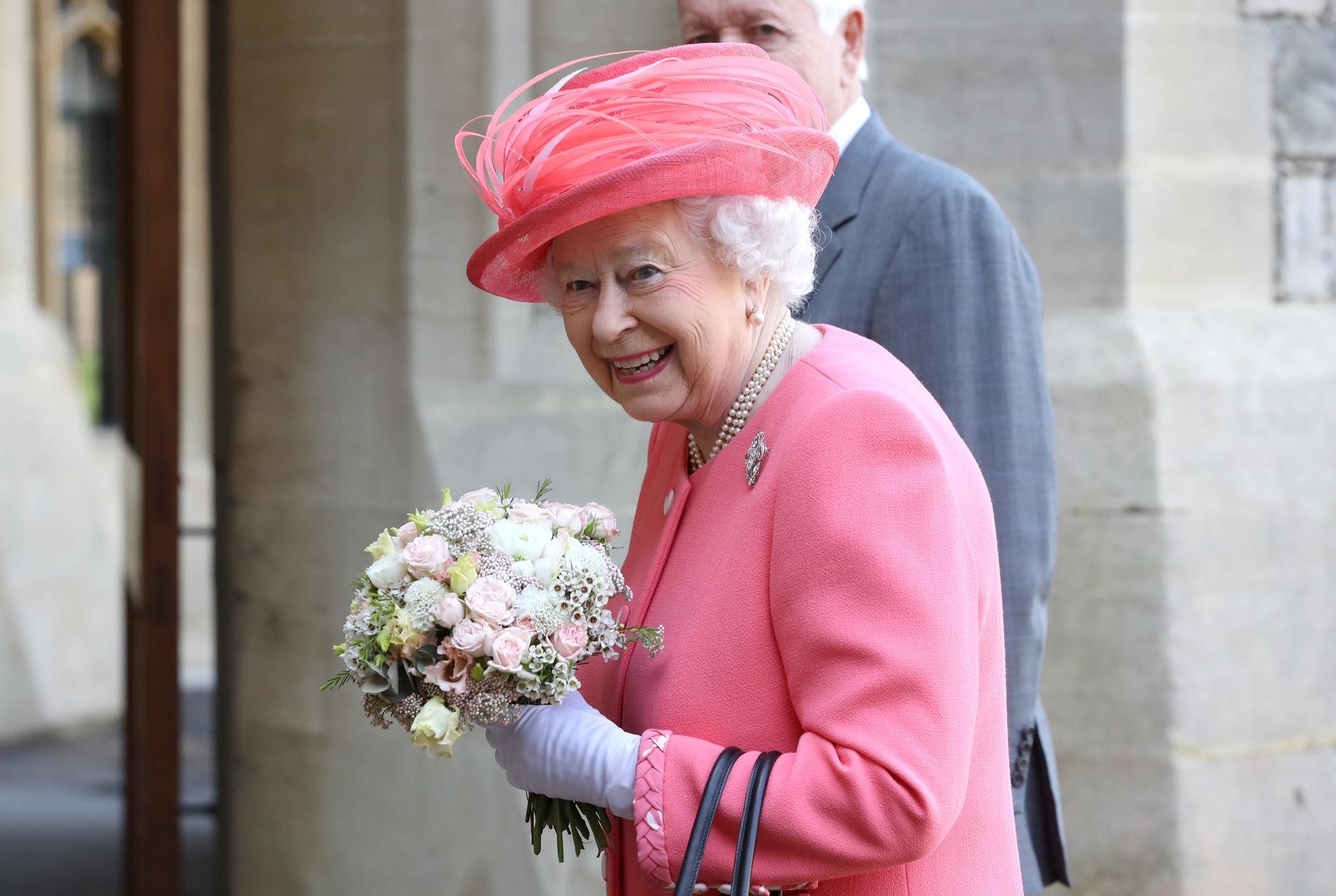La reine Elizabeth II, lors du marathon de Londres. (Londres, le 22 avril  2018.)