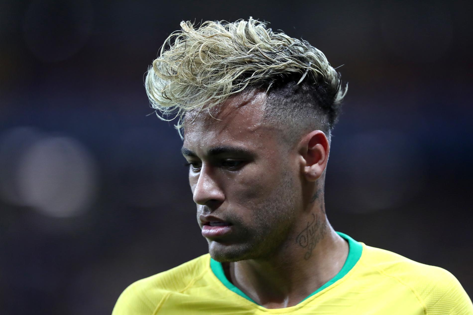 Neymar et sa crête blonde si commentée pendant la coupe du monde, le 17  juin 2018 à Rostov,sur,le,Don, en Russie.