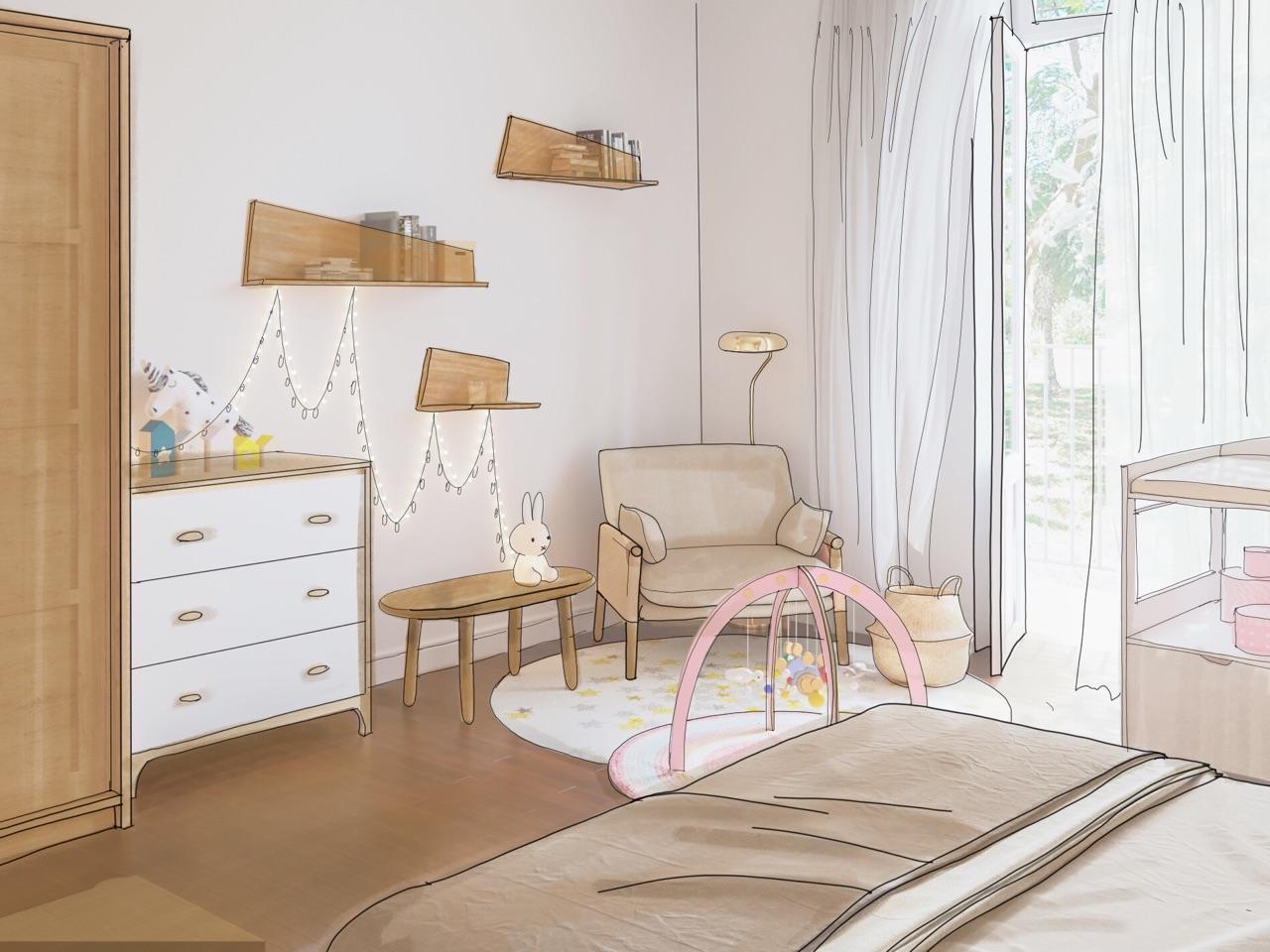 comment am nager un coin b b dans une chambre parentale madame figaro. Black Bedroom Furniture Sets. Home Design Ideas