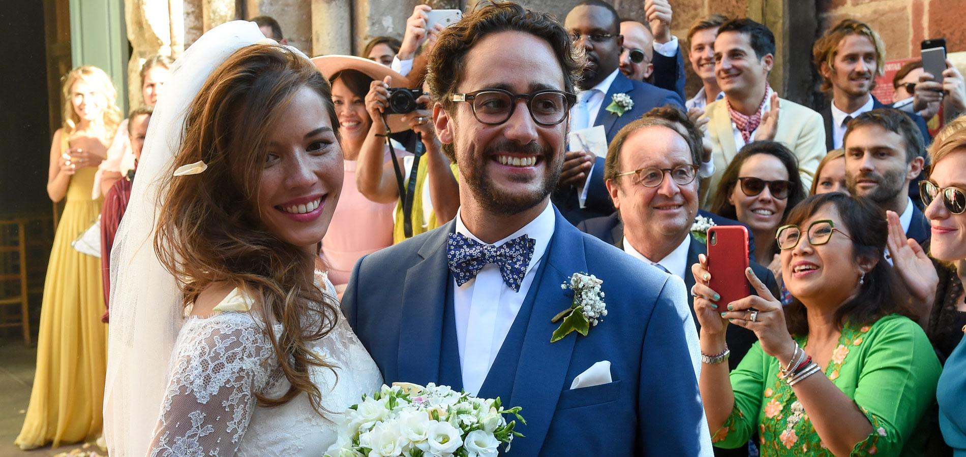 Thomas Hollande et Émilie Broussouloux se sont mariés samedi 8 septembre  2018 à Meyssac. (Corrèze, le 8 septembre 2018.)