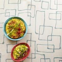 Tortilla aux poivrons et épices