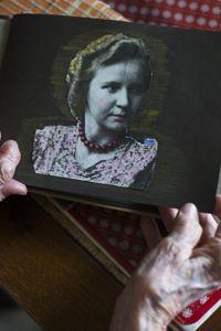 Margot Woelk en 1939 ou 1940, âgée d'une vingtaine d'années.