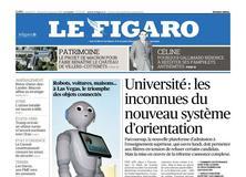 Le Figaro daté du 13 janvier 2018