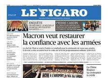 Le Figaro daté du 19 janvier 2018