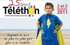 Raphaël, 7 ans, illumine le Téléthon