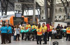 Un accident de train à Barcelone fait une quarantaine de blessés