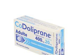 Codoliprane adultes 400 mg/20 mg, comprimé sécable, boîte de 16
