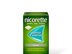 Nicorette 2 mg sans sucre, gomme à mâcher médicamenteuse édulcorée au sorbitol, boîte de 105
