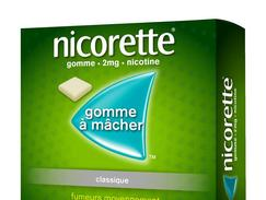 Nicorette 2 mg sans sucre, gomme à mâcher médicamenteuse édulcorée au sorbitol, boîte de 210