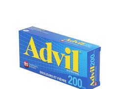 Advil 200 mg, comprimé enrobé, boîte de 20
