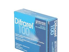 Difrarel 100 mg, comprimé enrobé, étui de 20