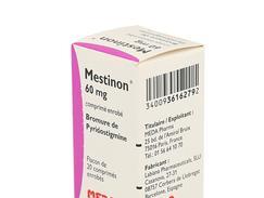 Mestinon 60 mg, comprimé enrobé, flacon de 20