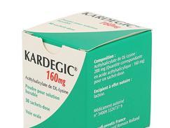 Kardegic 160 mg, poudre pour solution buvable en sachet, sachets boîte de 30