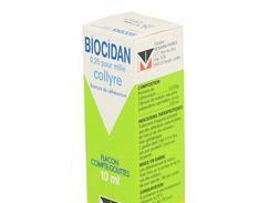 Biocidan 0,25 pour mille, collyre, flacon compte-gouttes de 10 ml