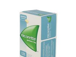 Nicorette 4 mg sans sucre, gomme à mâcher médicamenteuse édulcorée au sorbitol, boîte de 96