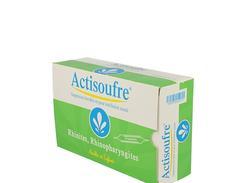 Actisoufre 4 mg/50 mg/10 ml solution buvable ou nasale boîte de 30 ampoules de 10 ml