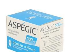 Aspegic 500 mg, poudre pour solution buvable en sachet-dose, boîte de 20 sachets-dose