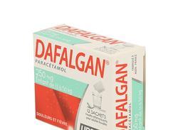 Dafalgan 250 mg, poudre effervescente pour solution buvable en sachet, sachets boîte de 12