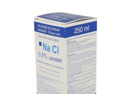 Chlorure de sodium lavoisier 0,9 %, solution injectable, boîte de 1 flacon (verre) de 250 ml