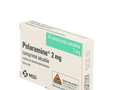 Polaramine 2 mg, comprimé sécable, boîte de 2 plaquettes thermoformées de 15