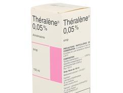 Theralene 0,05 pour cent, sirop, flacon (+ gobelet doseur à 2,5 ml, 5 ml et 10 ml) de 150 ml