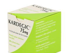 Kardegic 75 mg, poudre pour solution buvable en sachet-dose, boîte de 30 sachets-dose