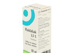 Fluidabak 1,5 %, collyre en solution, flacon compte-gouttes de 10 ml