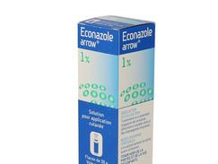 Econazole arrow 1 %, solution pour application cutanée, flacon pressurisé de 30 g