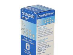 Econazole arrow 1 %, poudre pour application cutanée, flacon de 30 g