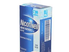 Nicotinell menthe fraicheur 2 mg sans sucre, gomme à mâcher médicamenteuse, boîte de 36