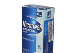 Nicotinell menthe fraicheur 4 mg sans sucre, gomme à mâcher médicamenteuse, boîte de 36