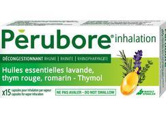 Perubore inhalation, capsule pour inhalation par vapeur, boîte de 15