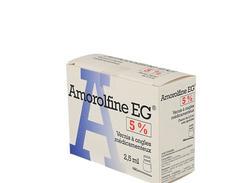 Amorolfine eg 5%, vernis à ongles médicamenteux, flacon de 2,50 ml