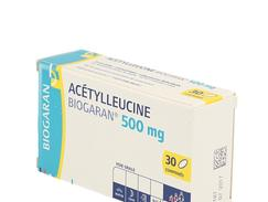 Acetylleucine biogaran 500 mg, comprimé, boîte de 1 flacon de 30