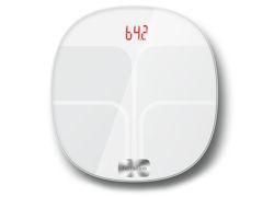 <b>Elle balance tout.</b> Poids, IMC, masse hydrique, masse musculaire... Le pèse-personne Terraillon Web Coach POP dit tout à votre smartphone pour un suivi sur le long terme. 110 euros.