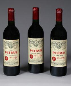 Pomerol Petrus, 1990, 2.200 à 2.500 € une bouteille