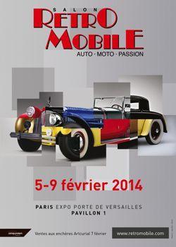 Salon Rétromobile. Paris. Porte de Versailles.