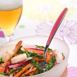"""Résultat de recherche d'images pour """"Salade fraîche d'asperges vertes et crevettes à la Bière de Printemps"""""""