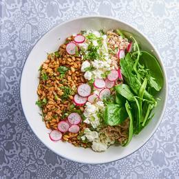 Recette salade facile et rapide cuisine madame figaro - Cuisiner le petit epeautre ...