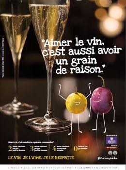 L'un des visuels de la campagne de Vin et Société.