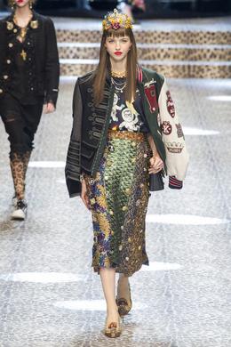 Défilé Dolce & Gabbana automne-hiver 2017-2018, Milan - Look 48.