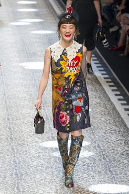 Défilé Dolce & Gabbana automne-hiver 2017-2018, Milan - Look 93.