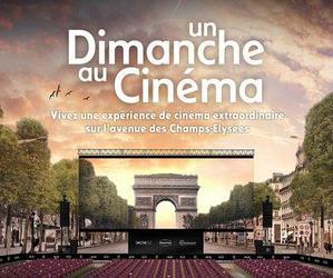 Une salle de cinéma géante sur les Champs-Élysées